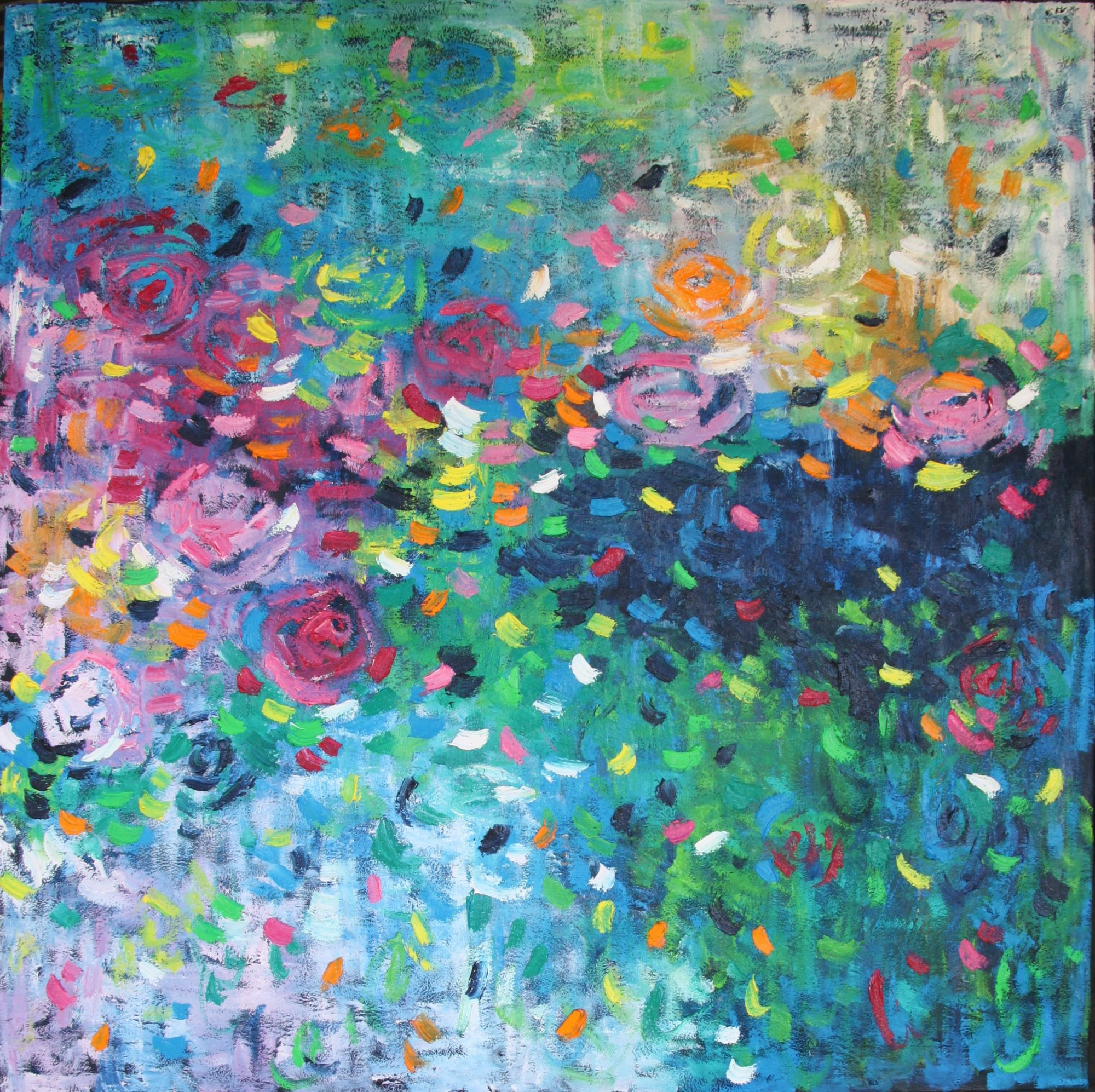 Belinda Nadwie Art Abstract Painting Swept Away