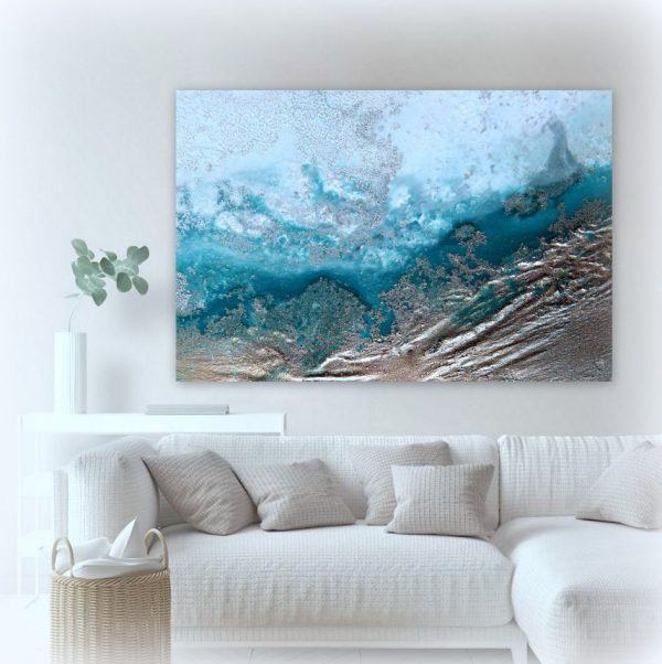 """ocean Channel"" Canvas Art Print By Petra Meikle De Vlas4"