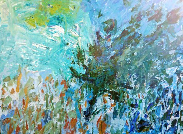 Ocean Voyage Abstract Artwork