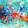 Belinda Nadwie Art Abstract Painting Raindrops On Roses