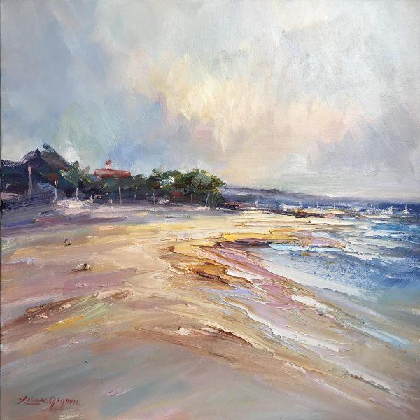 154 Mordialloc Beach 51x51cm (copy)
