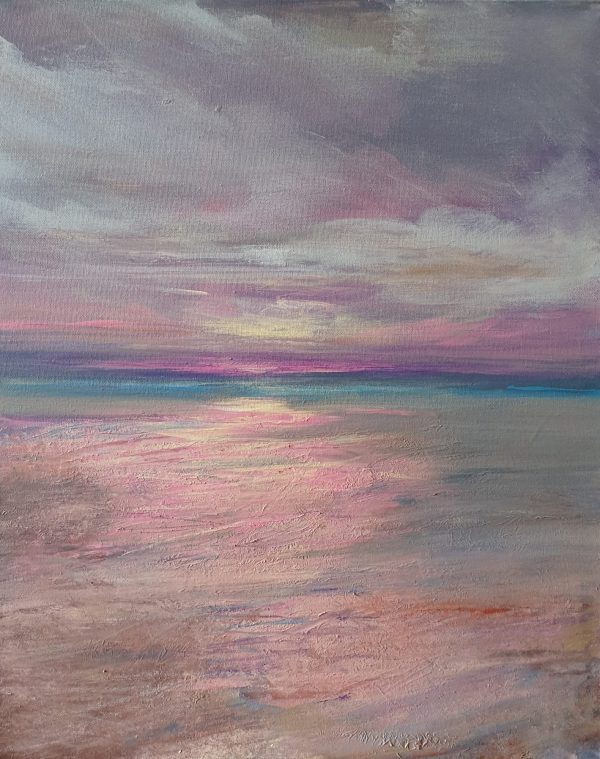 Andrea Edwards Reef Sunset (crop Shot) For Eaa 2019 Fundraising Art Auction