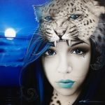 Blue Moon – Woman Portrait & Ocean Painting