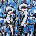 Magpie and Kookaburra Antics