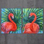 Flamingos diptych