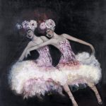 Ballerina Follies Ltd Ed Print on Canvas
