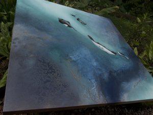 Free Stingrays Of The Barrier Reef Painting For Sale By Petra Meikle De Vlas5