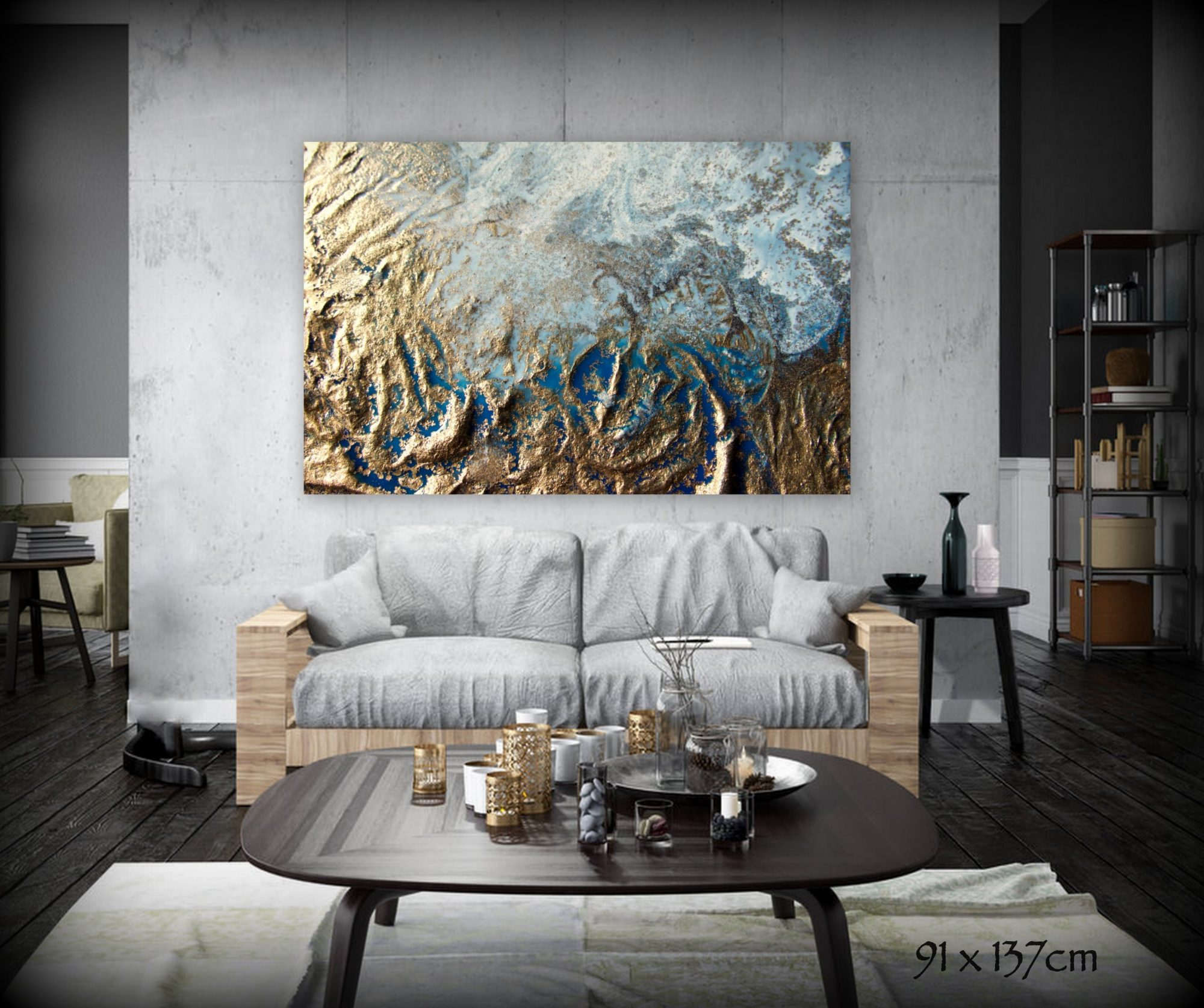 Gold Storm Canvas Art Print For Sale By Petra Meikle De Vlas1 2