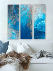 Ocean Blue Snibits 3 Canvas Art Prints For Sale By Petra Meikle De Vlas1