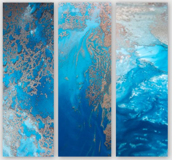 Ocean Blue Snibits 3 Canvas Art Prints For Sale By Petra Meikle De Vlas13