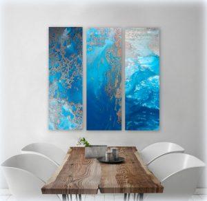 Ocean Blue Snibits 3 Canvas Art Prints For Sale By Petra Meikle De Vlas4