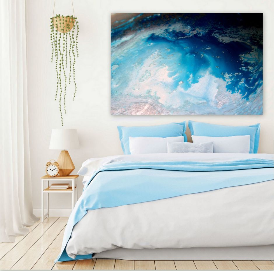 Planet Blue Canvas Art Print For Sale By Petra Meikle De Vlas 2