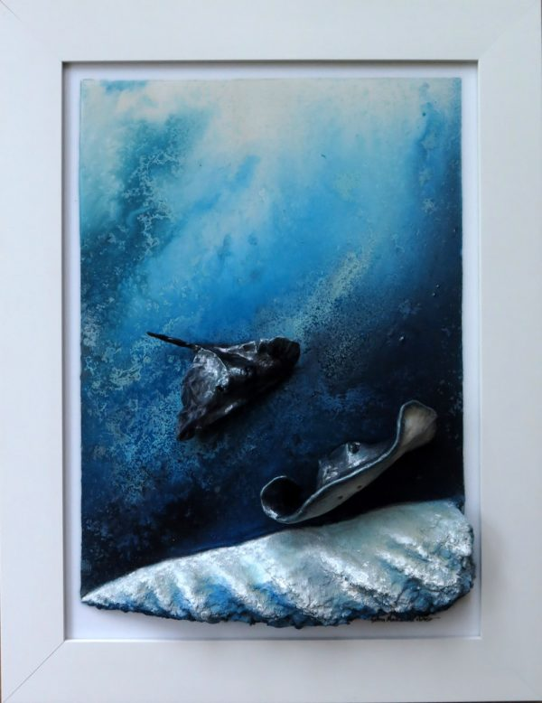 Sting Ray Art The Landing By Petra Meikle De Vlas