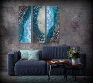 Teal Reef Snibits 3 Canvas Art Prints For Sale By Petra Meikle De Vlas12