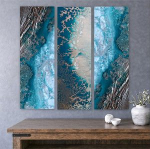 Teal Reef Snibits 3 Canvas Art Prints For Sale By Petra Meikle De Vlas2