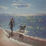 A man and his dog, Huskisson Beach – Sold