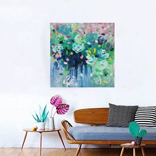 Belinda Nadwie Art Abstract Painting Never Stop Loving You