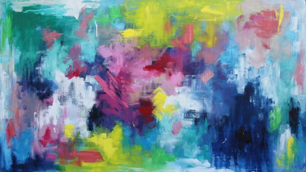 Belinda Nadwie Art Abstract Painting Sydney Artist Living It Up