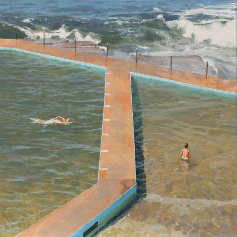 Buy Australian Art Online Swimming 600x598