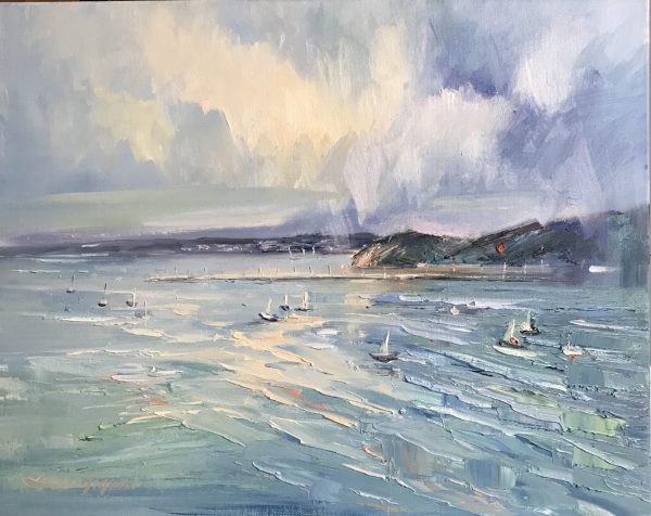 86 Storm Approaching Sorrento 51x41cm