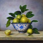 Limes in Chinese bowl