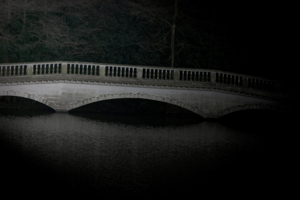 Limited Edition Print Bridge In Hampstead Heath London By Artist Aldona Kmiec