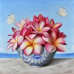 Frangipani and butterflies