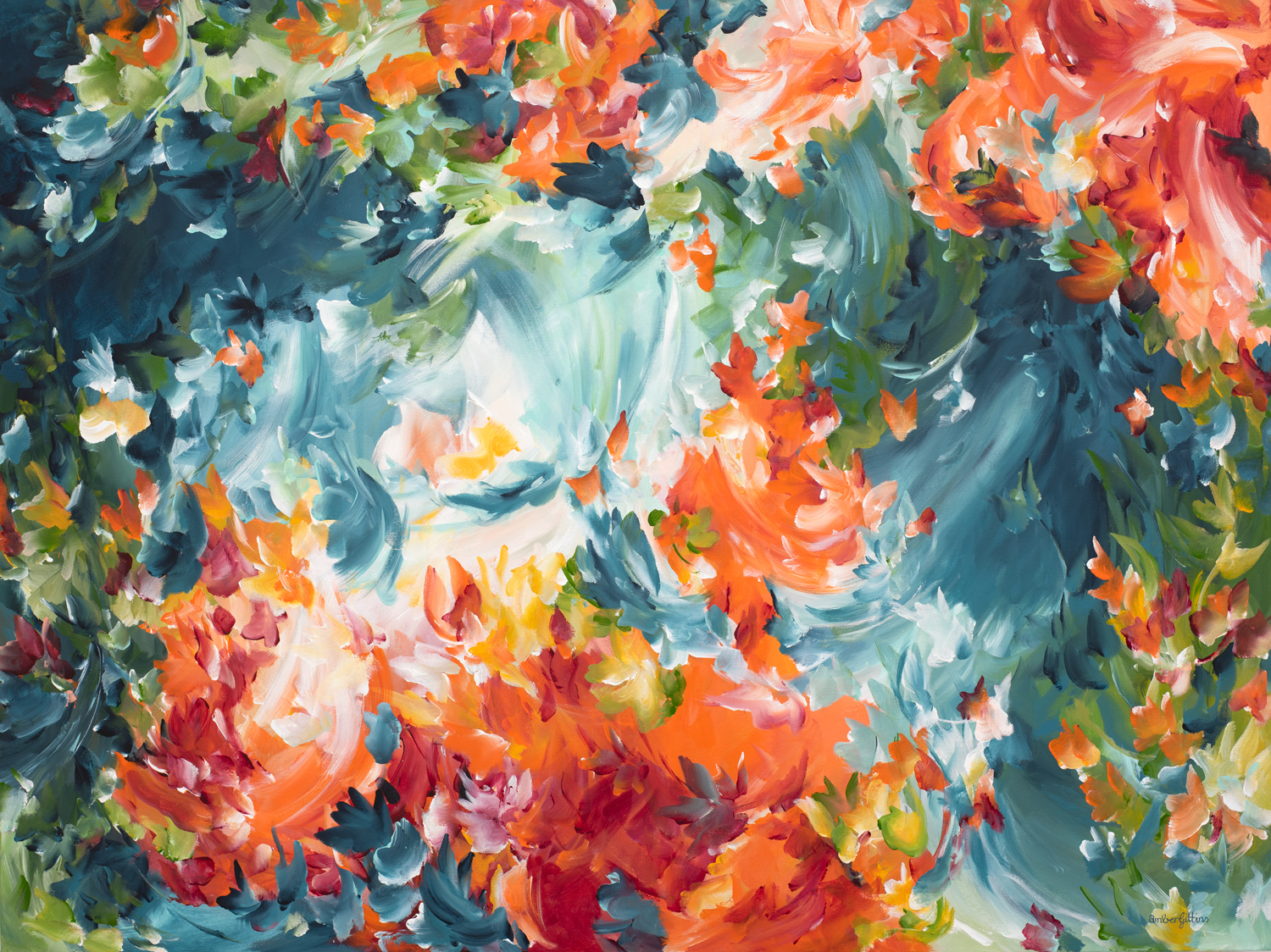 Making Memories Abstract Painting By Amber Gittins