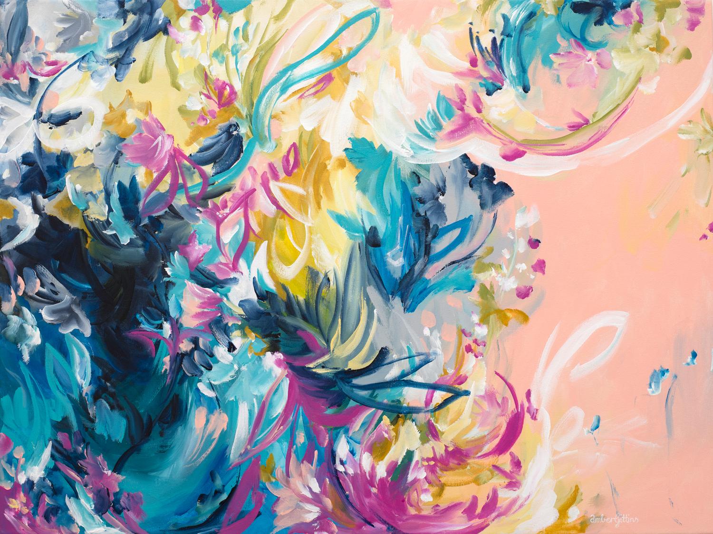 Rainbow Bloom By Amber Gittins Artist