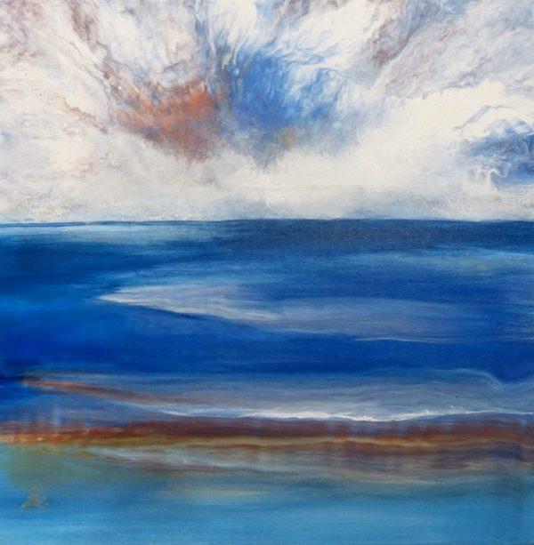 Spectacular Sky, Clare Riddington Jones, 45cm X 45cm
