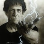 Struck by the Power and the Glory – Painting of Lou Reed