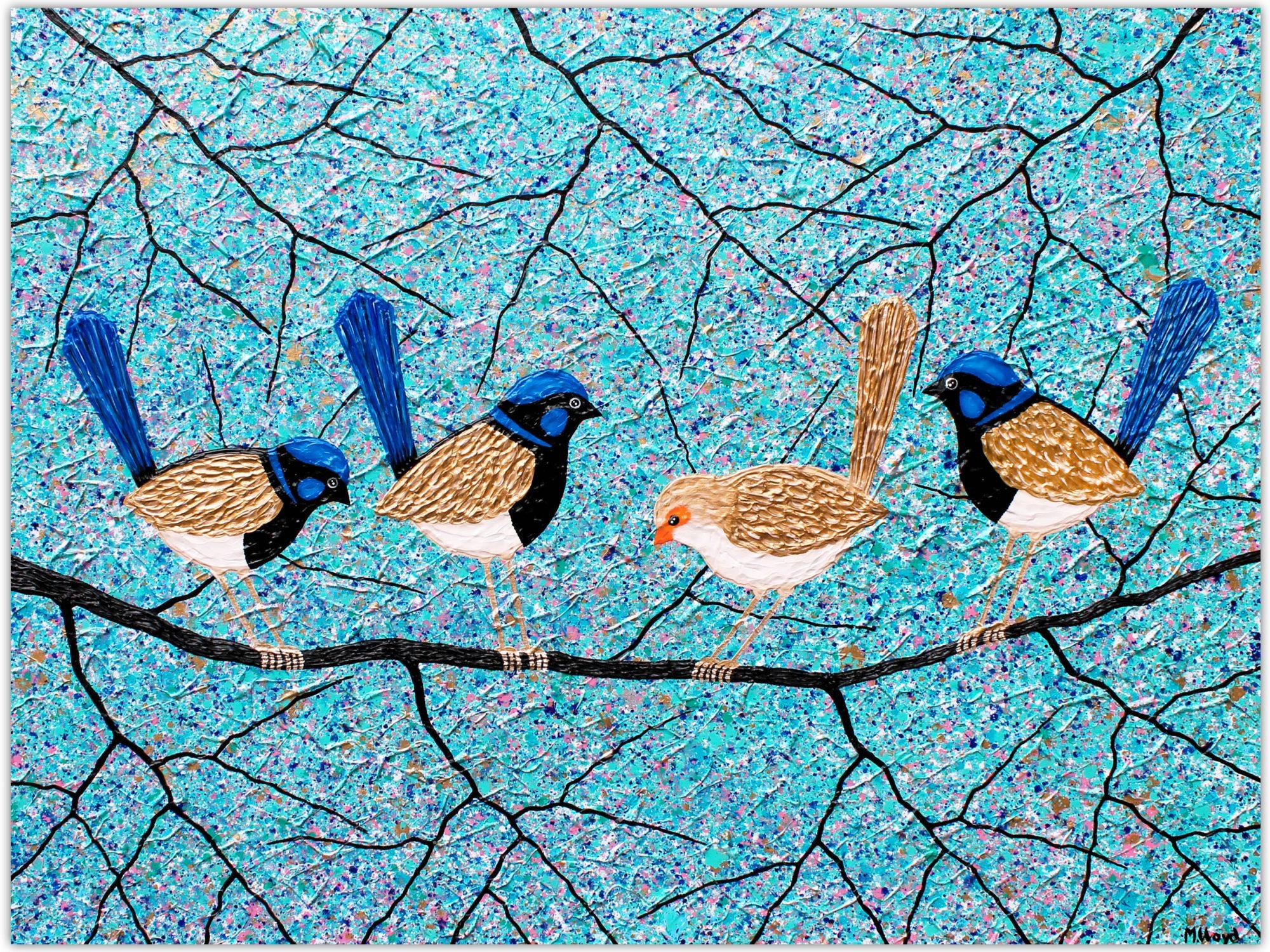 Blue Wrens Fairy Wrens Miranda Lloyd Artist Australia