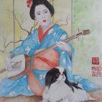 Japanese Chin & Geisha