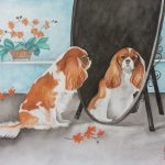 Cavalier Dog In The Mirror