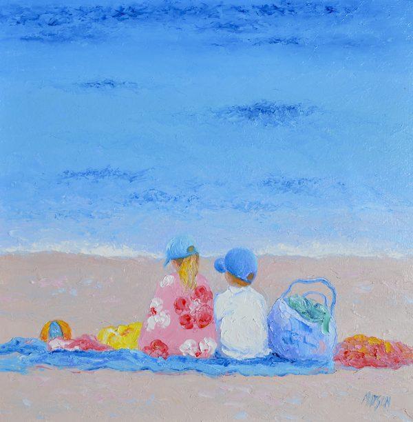 A Summer Day, Beach Painting By Jan Matson