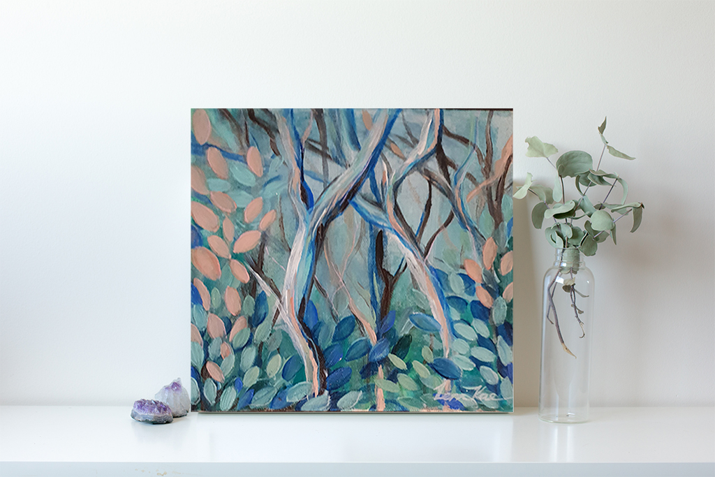 Artist Leni Kae Through The Trees Interior Design 1 No Frame Example Abstract Landcape Series Art Lovers