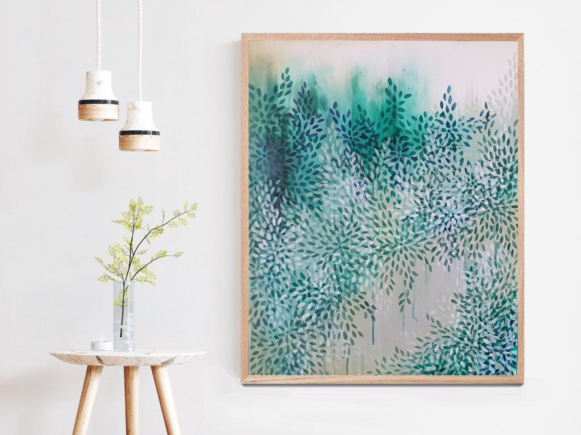 Artist Leni Kae Healing Path By The Greenway Left Wood Frame