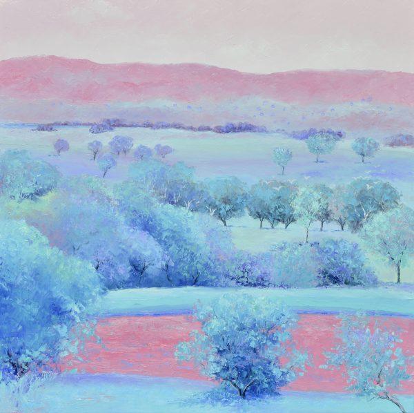 Dusky Pink, Australian Landscape Painting By Jan Matson