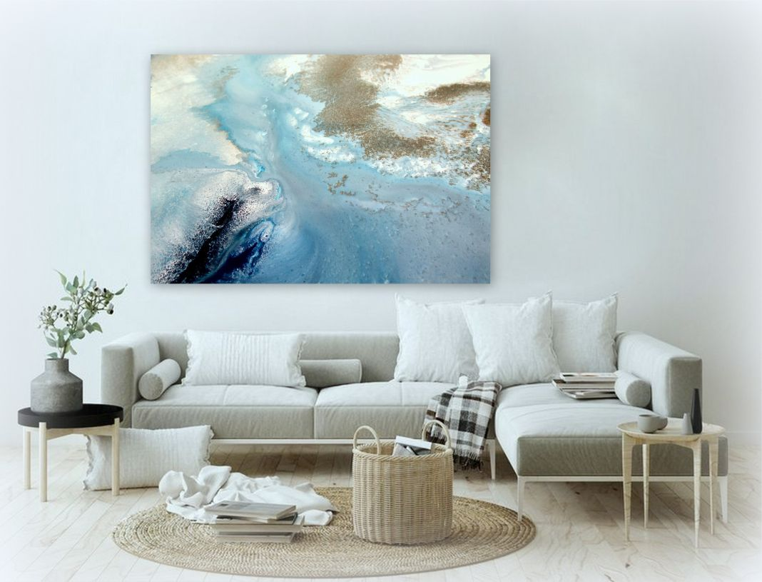 Estuary Flow Canvas Art Print For Sale By Petra Meikle De Vlas2