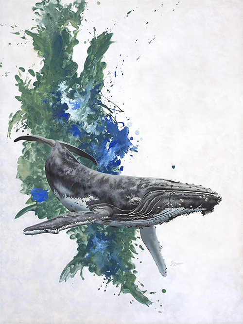 Green And Blue Seas Humpback Whale Small