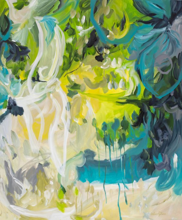 Jealous Desire Abstract Painting By Amber Gittins