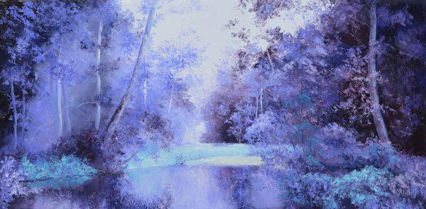 Landscape In Purple By Jan Matson