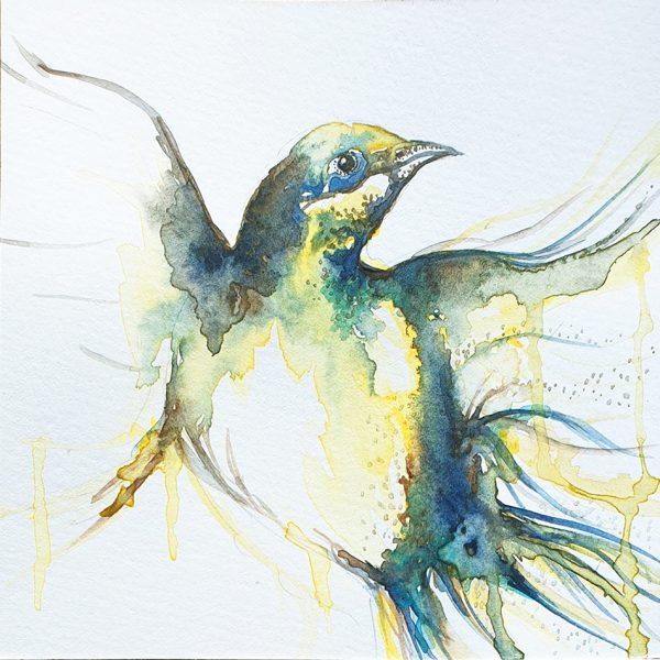 Leni Kae Joy Takes Flight Watercolour On 300gsm Paper 15x15cm 950px
