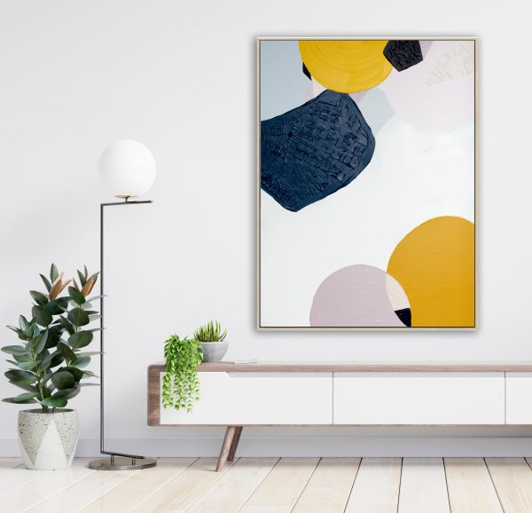 Shelf Tv In Modern Empty Room,minimal Design.