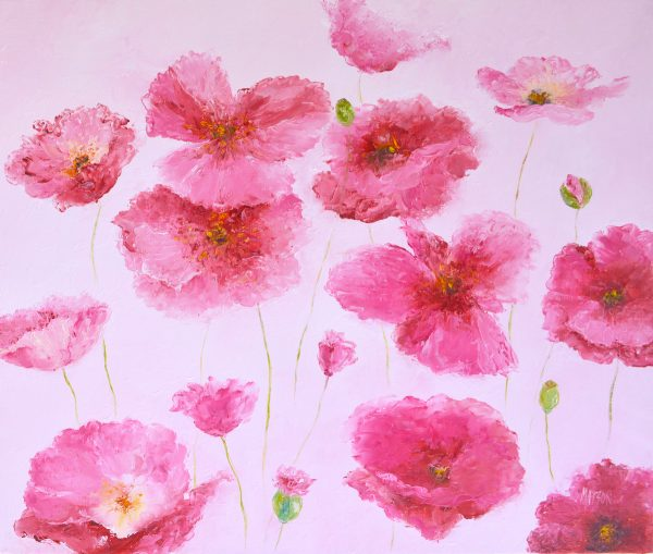 Pink Iceland Poppies Painting By Jan Matson