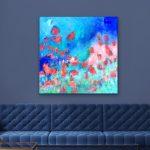 Plastic Love – Square Abstract 87x87cm