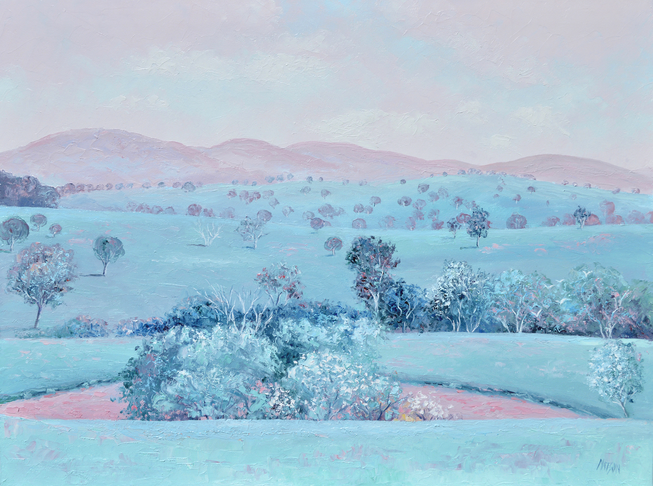 Spring Morning Australian Landscape Painting By Jan Matson