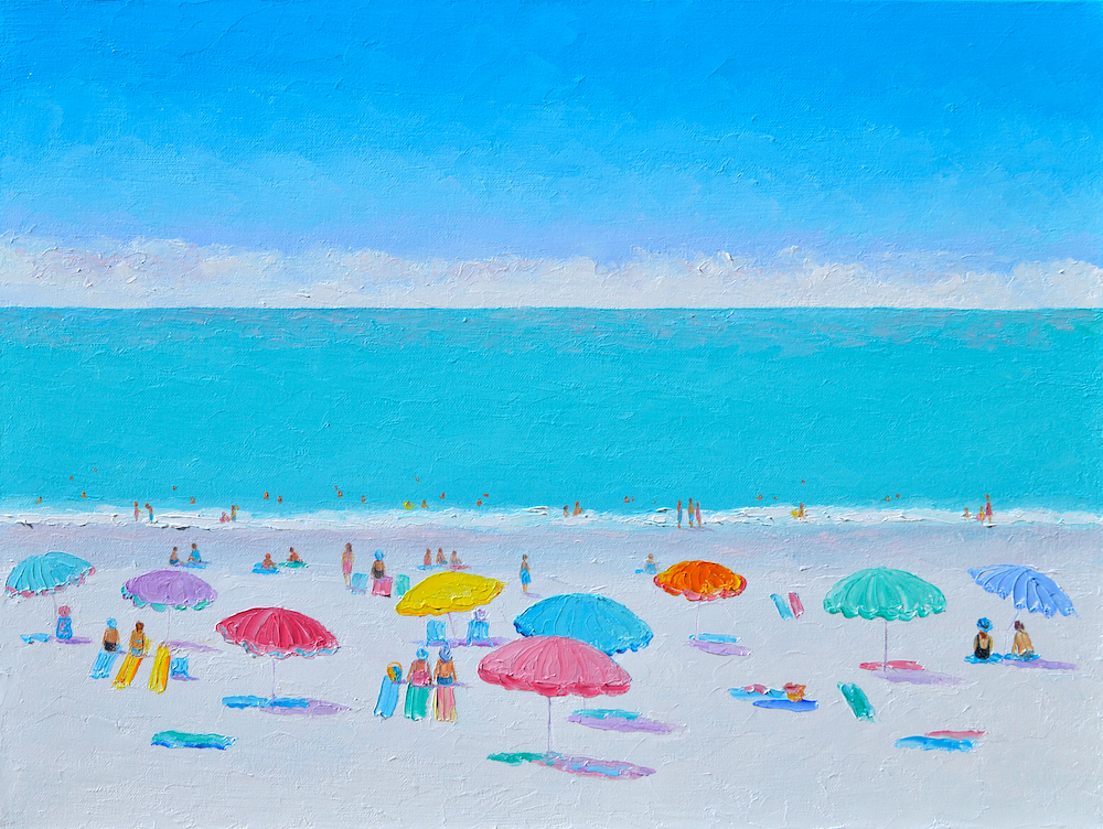 Those Never Ending Summer Days, Beach Painting By Jan Matson