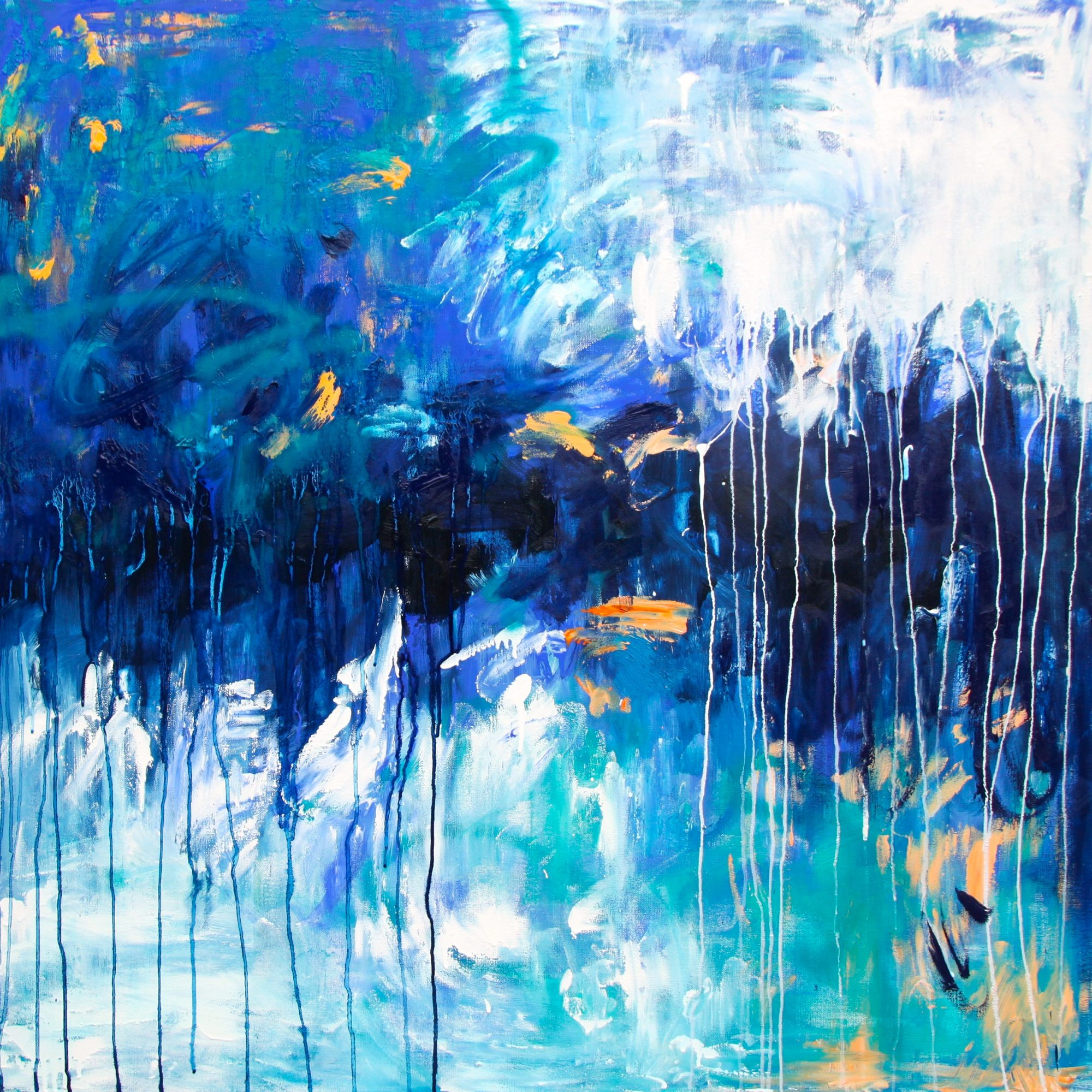 Belinda Nadwie Art Abstract Painting Sydney Artist Calm Under The Waves