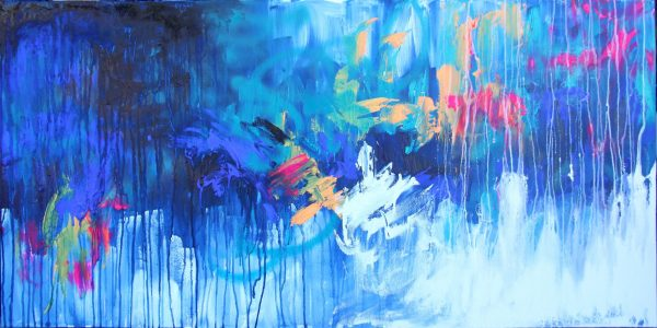 Belinda Nadwie Art Abstract Painting Tropical Storm